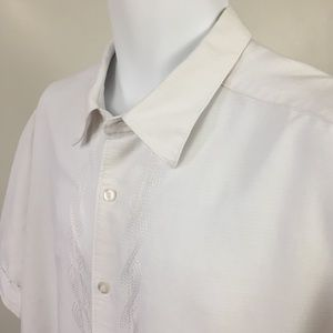 CUBAVERA XX Large White Embroidered Guayabera EUC